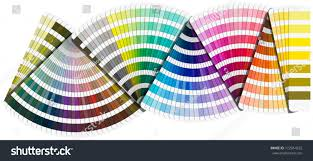 palette pantone background pantone color palette guide isolated stock illustration