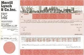 Merrill Lynch Help Desk Merrill Lynch U0026 Co Specimen Stock Certificate