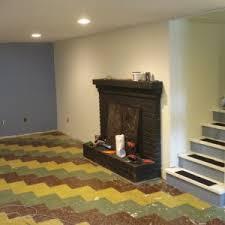 Basement Floor Finishing Ideas Interior Traditional Basement Flooring Ideas With Wooden Bench
