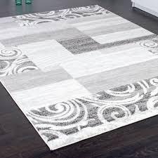 Einrichtung Teppich Wohnzimmer Designer Teppich Wohnzimmer Teppich Kurzflor Muster In Grau Creme