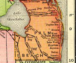 Map Of Lake Worth Florida by Palm Beach County 1917