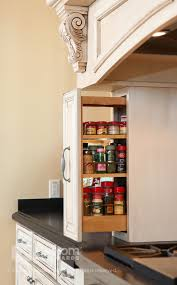 wall spice cabinet with doors spice rack organizer in kitchen mediterranean with built in spice