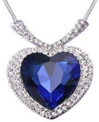heart necklace from titanic images 18k white gold plated necklace swarovski elements blue jpg