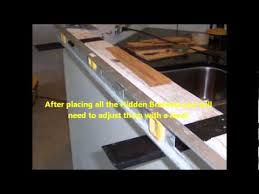 how to attach a countertop to a wall without cabinets install the knee wall hidden bracket wmv youtube