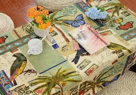 hawaii cotton tablecloths thick canvas printing table cloth