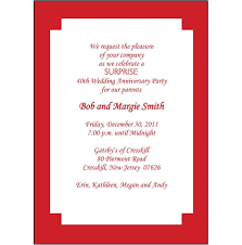 templates 40th wedding anniversary invitation cards with 40th
