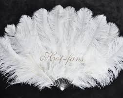 burlesque fans small layers custom colors ostrich feather fan
