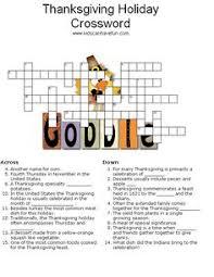 thanksgiving crossword puzzle pinteres