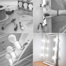 Lamp For Makeup Vanity Diy Vanity Mirror With Lights Omg Too Cool Been Wondering About
