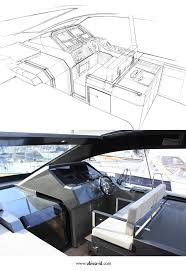 from sketch to production d43 cockpit de antonio yachts yacht