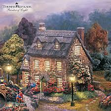 Thomas Kinkade Clocktower Cottage by Thomas Kinkade Lamplight Village Collection Thomas Kinkade