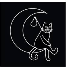 cat and moon royalty free vector image vectorstock
