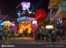 cancun red light district spring break in cancun party zone stock editorial photo czuber