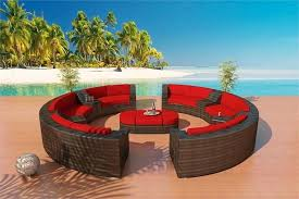circular wicker outdoor furniture resin wicker round patio dining