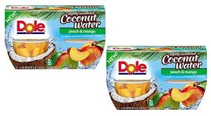 dole fruit bowls dole fruit bowl with coconut water only 0 24 at walmart