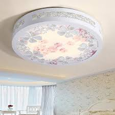 modern led bedroom ceiling lamp wooden hollow out living room