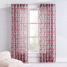Blue And White Floral Curtains Curtains Hardware Bedroom Nursery Crate And Barrel