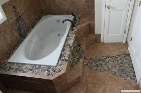 river rock bathroom ideas small bathroom ideas travatine tile river rock design laying