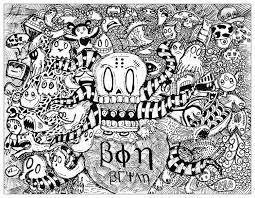 strange doodle by bon arts doodling doodle art coloring