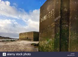 world war ii concrete blockhouses on beach at wissant nord pas de