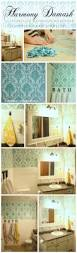harmony damask stenciled bathroom makeover stencil stories