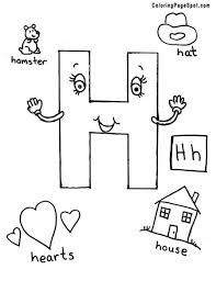 different words for h alphabet coloring pages printable alphabet