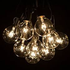 50 foot g50 patio globe string lights with 2 inch