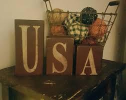 Word Blocks Home Decor Usa Etsy