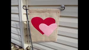 Valentine S Day Flags Valentine U0027s Day Burlap Garden Flag Youtube