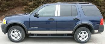 ford explorer trim ford explorer chrome pillar post trim 4pc set 2002 2003 2004