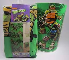 tmnt teenage mutant ninja turtles bathroom set lot shower curtain