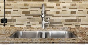 Colorful Kitchen Backsplashes Travertine Subway Mix Backsplash Tile Ivory Beige Brown