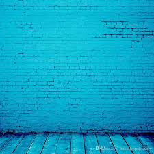 vinyl backdrops bright blue color vinyl backdrop brick wall wooden floor digital