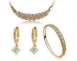 gold sets design buy 18k gold plated italina braided design necklace earring and