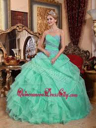 green quinceanera dresses apple green gown sweetheart organza appliques and ruched