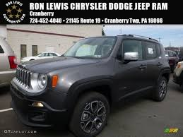 gray jeep renegade interior 2016 granite crystal metallic jeep renegade limited 4x4 111328331