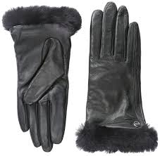 ugg gloves sale office ugg s leather smart glove black lg at amazon s