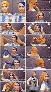 tutorial jilbab dua jilbab buat wisuda hijab tutorials pinterest tutorials kebaya and hijabs