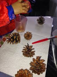 pine cone tree decorations messy little monster