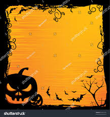 free halloween orange background pumpkin halloween background pumpkin night bat tree stock vector 61651342
