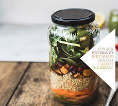 mason jar quinoa salad with green thai style dressing gf and