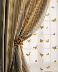 Curtains And Sheers Home Silks Milano Striped Curtains U0026 Butterfly Sheers