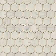 hexagonal cream marble tile texture seamless 14259