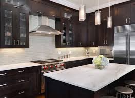 Dark Kitchen Cabinets With Backsplash Elegant Dark Kitchen Cabinets Trillfashion Com