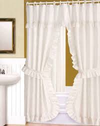 Clawfoot Tub Shower Curtain Liner Striped Fabric Shower Curtains Round Table Pale White Curtain