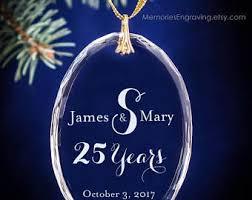 Anniversary Christmas Ornament 50th Golden Wedding Bells Anniversary Christmas Ornament