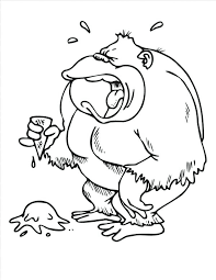 coloring page of gorilla gorilla animals printable coloring pages coloring page gorilla
