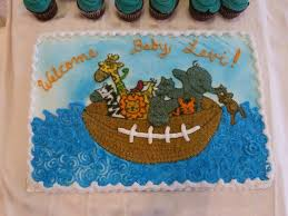 noahs arkfootball baby shower cake cakecentral com
