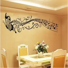 carejoy butterfly u0026 music notes wall stickers flower wall decals