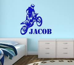 motocross motorbike personalised wall art sticker sticker station